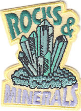 """""""ROCKS & MINERALS"""" PATCH-Iron On Embroidered Patch/Outdoors, Learning, Research"""