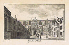 LONDON The Guildhall - Antique Print c1760