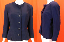 Vintage Christian Dior Original Navy Blue Wool 1947 New Look Style Suit Jacket