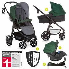 Hauck 4in1 Kinderwagen-Set Soul Plus Trio mit Babyschale, Isofix Basis & Zubehör