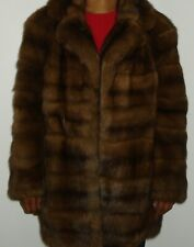 KARL LAGERFELD Top Quality Russian Sable Fur Jacket Coat Size 6-8 FREE SHIPPING