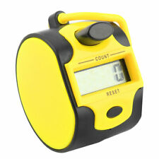 Office Handheld 5 Digit Numbers LCD Display Tally Click Counter Black Yellow
