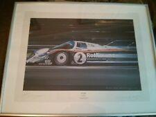 """Nicholas Watts """"gagnants"""" 1984 PORSCHE 956 Derek Bell et Stefan Bellof (signé)"""