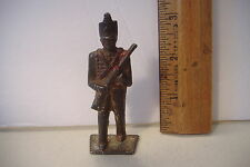 ~VINTAGE~CAST IRON TOY SOLDIER~CADET OFFICER WITH RIFLE~#1~