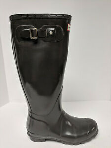Hunter Original Tall Gloss Rain Boots, Brown, Womens 7 M