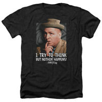 Three Stooges TRY TO THINK Licensed Adult Heather T-Shirt All Sizes