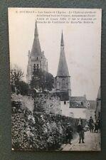 CPA. DOURDAN. 91 - Les Fossés et l'Eglise.