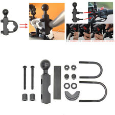 "Motorcycle Handlebar Control Base Combo U Bolt Mount w/1""Ball for GPS Phone"