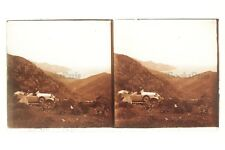 Corse Voiture France Plaque de verre Stereo Vintage 7x13 cm