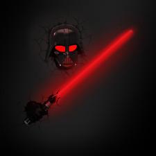 Star Wars Darth Vader Lichtschwert LED Kinderlampe -Nachtlicht für Kinder