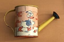 WALT DISNEY  DONALD DUCK  SMALL SPRINKLE CAN  1938  OHIO ART  TIN LITHO