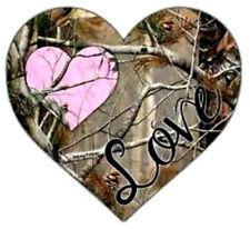 20 water slide nail art decal Mossy oak green pink camo heart trending 3/8 inch