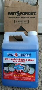 WET & FORGET MOSS MOLD MILDEW & ALGAE STAIN REMOVER CONCENTRATE .75 GALLONS