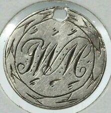Canada Five Cent 92.5% Silver LOVE TOKEN - J W M - Lot # LT 1056