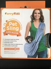 Furry Fido Classic Collection Pet Sling Up To 13 Lbs Light Blue (B19N)
