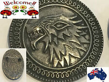 GAME OF THRONES HOUSE STARK DIRE WOLF INSPIRED BROOCH/PIN GIFT XMAS (163W)