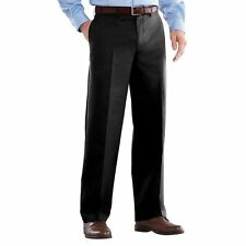 NEW Mens 34x30 Jet Black Straight Fit Easy Care Flat Pants by Croft & Barrow  #h