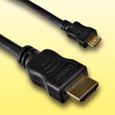 Cable HDMI para Panasonic Lumix dmc-ft4 | micro d | longitud 2m | dorado