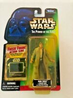 Star Wars Power of the Force POTF2 Freeze Frame 1 Han Solo Blaster .02