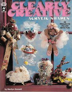 Clearly creative acrylic shapes 26 projects retro crafts book 1990's vintage