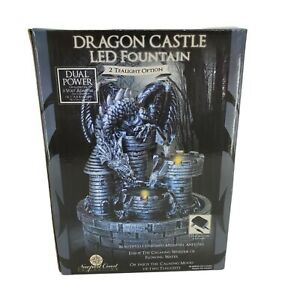 Newport Coast Collection Medieval Artistry Dragon Castle LED Fountain Tealight
