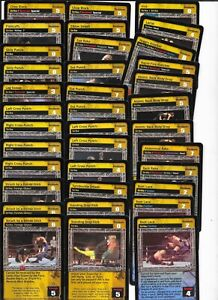 WWE RAW DEAL - 50X Card Strike Maneuver LOT *FREE SHIPPING*