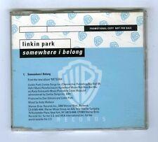 MAXI CD SINGLE PROMO LINKIN PARK SOMEWHERE I BELONG