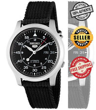 Seiko 5 Automatic Men Black Dial Day Date SNK809 SNK809K2 Black Band Watch