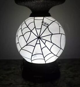 Bath & Body Works Halloween BAT SPIDER WEB Pedestal Candle Holder 🦇Lights Up🦇