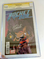Rocket Raccoon #1 CGC 9.8 SS - Signed Stan Lee  & Jeff Smith! Guardians Galaxy