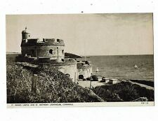 CORNISH POST CARD PRINTED OF ST. MAWES CASTLE AND ST. ANTHONY LIGHTHOUSE