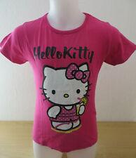 HELLO KITTY ° hübsches T-Shirt Gr. 128 rot Mädchen Mode Kleidung Sommershirt