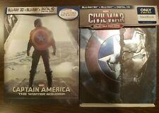 Captain America The Winter Soldier Steelbook & Civil War Steelbook 3D/2D BluRay
