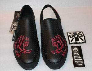 TUK Men's Black & Red Creepers / Sneakers - Size 12 - A6962 / New / T.U.K.