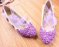 Zapatos de Salón Zapatos Blanco Violeta Novia Encaje 3.5 , 4.5 CM 9255