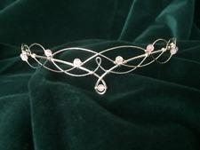 Tiara Elven Circlet in Rose Quartz Wedding Bridal Bridesmaid Headpiece
