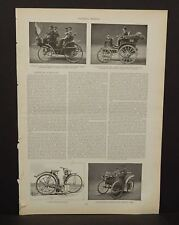 Harper's Weekly Single Page Horseless Carria