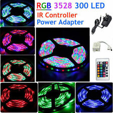 Waterproof 5M 300 LED 3528 RGB SMD Strip Light 12V + 44 key Remote + UK Power