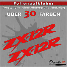 2er SET - ZX-12R Sponsoren-Folienaufkleber Auto/Motorrad - 30 Farben - 10cm