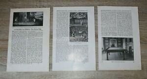 7 Blatt Geschichte Billard 1908/09 Georg Ruß Sport Text Abb Zeitschrift Artikel