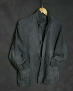 VTG FRENCH Style Men JACKET M Workwear Flannel Prison Shirt Selvage Work Chore