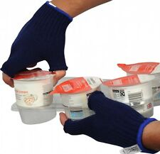 UCI PB7FL BLACK Seamless Soft Acrylic Fingerless Gloves - Medium