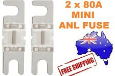 2 x 80AMP Mini ANL Fuse for Car Amplifier Wiring Kit Fuse Holders 80A - Midi AFC