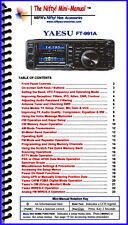 Yaesu FT-991A HF/VHF/UHF Transceiver Mini-Manual from Nifty Accessories
