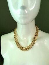 "Givenchy Thick Double Fancy Link Heavy Chain 18"" Necklace"