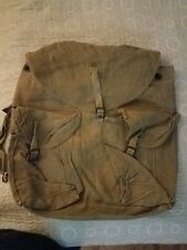 Vintage Military Surplus Canvas Field Pack Brown Backpack Rucksack