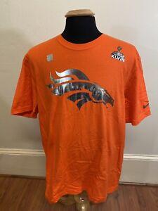 NEW NWT Nike Denver Broncos NFL Super Bowl XLVIII T Shirt Men's Size XL Orange