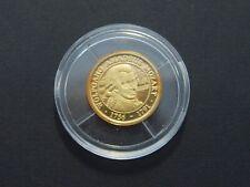 Goldmedaille - PP - 585/1000 Gold - 0,8g - Schatzkästchen - W.A. Mozart