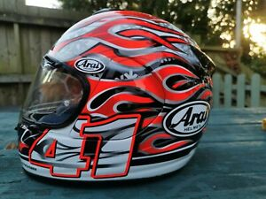 Arai Chaser Haga Fire and Ice Replica Motorcycle Helmet Size Medium