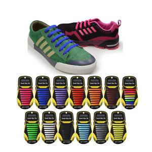 Silikon Schnürsenkel elastische Schuhbänder Schuhschnur   shoe lace 16pcs